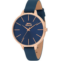 Slazenger Women's Analog Display Blue Dial Blue Leather Strap - SL.9.6042.3.03