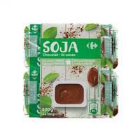 كارفور حليب صويا بنكهة الشوكولاتة الخاصة 100 جرام 4 حبات