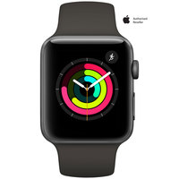 Apple Watch Series-3 42mm Space Gray Aluminium Case With Gray Sport Band