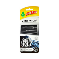 Little Trees Vent Wrap Air Freshener  Ice Black Made In Usa