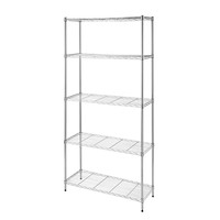 Cameltough - Wire Rack 91 X 35 X 182 Cm Chrome 5 Shelf - Htc-Wr606