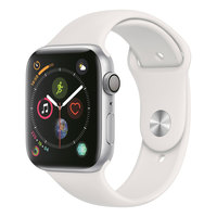 Apple Watch Series-4 GPS 44mm Silver Aluminium Case with White Sport Band(MU6A2AE/A)