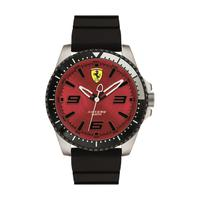 Scuderia Ferrari Men's Watch XX KERS Analog Red Dial Black Silicon Band 44mm Case