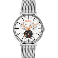 Lee Cooper Men's Watch Multifunction Display White Dial Silver Pure Metal Bracelet - LC06380.330