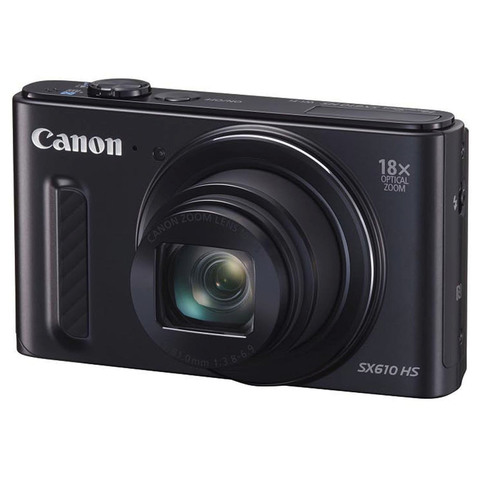 Canon-Camera-PowerShot-SX610HS-Black-+-4GB-Card-+Case