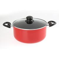 F1 Casserole W/Lid 24Cm N/Stick Red