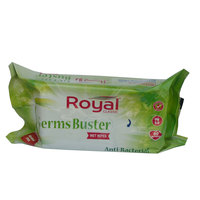 Royal Classic Anti-Bacterial Germs Buster Wet Wipes 80 wipes