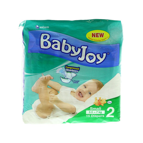 Babyjoy-Diapers-Size-2-Small-3.5---7kg-15-Diapers