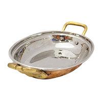 Raj Copper Oval Dish 21.5Cm