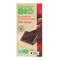 Carrefour Organic Chocolate Black74% 100 g