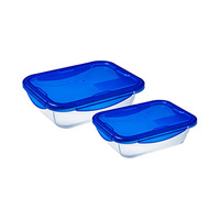 Pyrex Cook & Go Rectangular Set 2 Pieces 1.7L And 0.8L