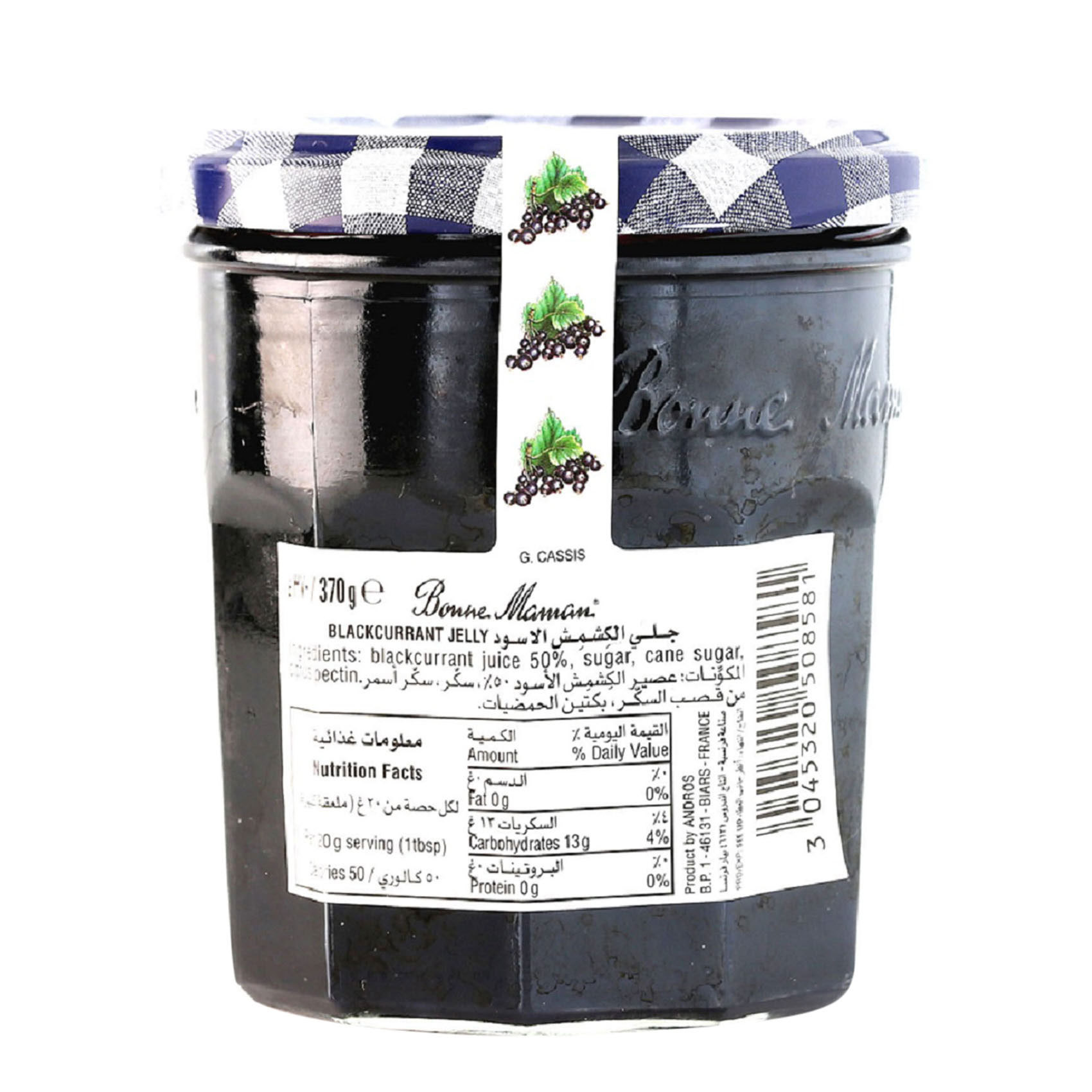 BONNE MAMAN BLK/CURRANT JELLY 370G