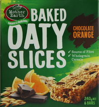 Mother Earth Baked Oaty Slices Chocolate Orange 240g