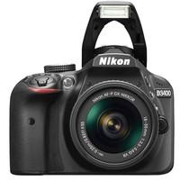 كاميرا ديجتال DSLR من نيكون، مع عدسة VR من 18-55 ملم، 24.2 ميجابيكسل، اسود - D3400