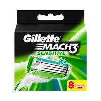 Gillette Mach 3 Sensitive Men's Razor Blade Refills Pack Of 8
