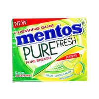 Mentos Pure Fresh Lemon with Green Tea Chewing Gum 12's
