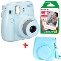 Fujifilm Instax Camera Mini 8 Blue + Filim + Case Worth 93 AED
