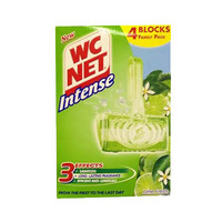 WC Net Intense Rim Cleaner Lime Fresh Bathroom Cleaner 34GR + 4 Blocks