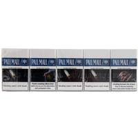Pall Mall Cigarettes Blue Less Smell 20'sx10 Packs