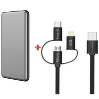 Cellairis Power Bank 10000mAh + 3 in 1 Cable (Type-C, Lightning ,Micro USB)