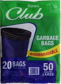 Sanita Club Trash Bag Large 50 gallons 20 Bags