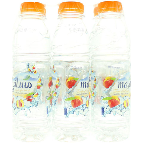 Masafi-Touch-of-Peach-Flavored-Water-500mlx6