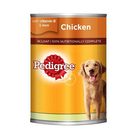 PEDIGREE®-Chicken-Loaf-Wet-Dog-Food-Can-400g-