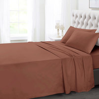 Tendance's Fitted Sheet Double Brown 137X193