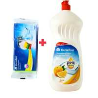 Carrefour Dishwashing Liquid Orange 1.5L + Sponge