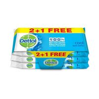 Dettol Wipes Cool 10 Sheets 2+1 Free