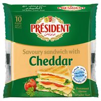 President Sandwich with Cheddar Slice Cheese 200g