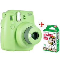 Fujifilm Instant Film Camera Instax Mini 9 Green + Single Pack Film