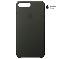 Apple Case iPhone 8Plus & 7Plus Leather Charcoal Gray