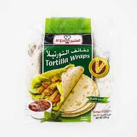 Alkbeer plain tortilla wraps bread 12 pieces - 570 g