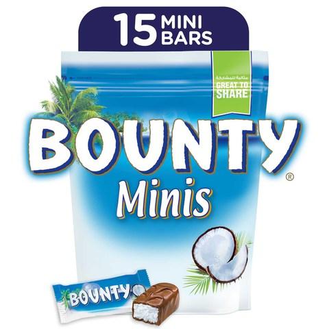 Buy Bounty reg  Minis Milk Chocolate Mini Bars Pouch 427.5g (15 pcs) Online  - Shop Bounty on Carrefour UAE 8ee003c27