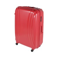 تراك هاي حقيبة سفر خامة صلبة 4 عجلات مقاس 29 انش لون أحمر