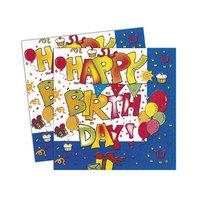 Koklio Napkin Happy Birthday Blue 20 Sheets
