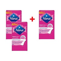 Nana Ladies Pads Pantyliner Normal 32 Napkins 2+1 Free