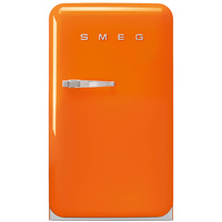 Smeg 120 Liters Single Door Fridge FAB10RO Orange