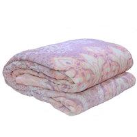 3D Super Soft Flannel Blanket Double Honey Comb Peach