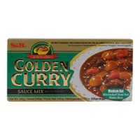 S&B Golden Curry Sauce Mix Medium Hot 240g