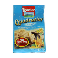Loacker Quadratini Vanilla Bite Size Wafer Cookies 250g