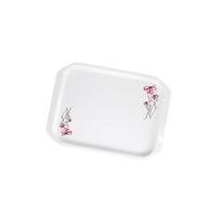 Wom Melamine Tray White Flower Small