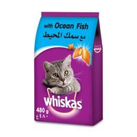 ويسكاس طعام قطط مع سمك المحيط 480 جرام