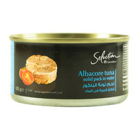 Carrefour Selection Albacore Tuna Solid Pack in Water 185g