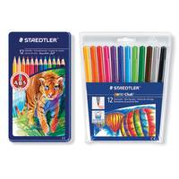 Staedtler 12 Color Pencil+12C Fiber Tip