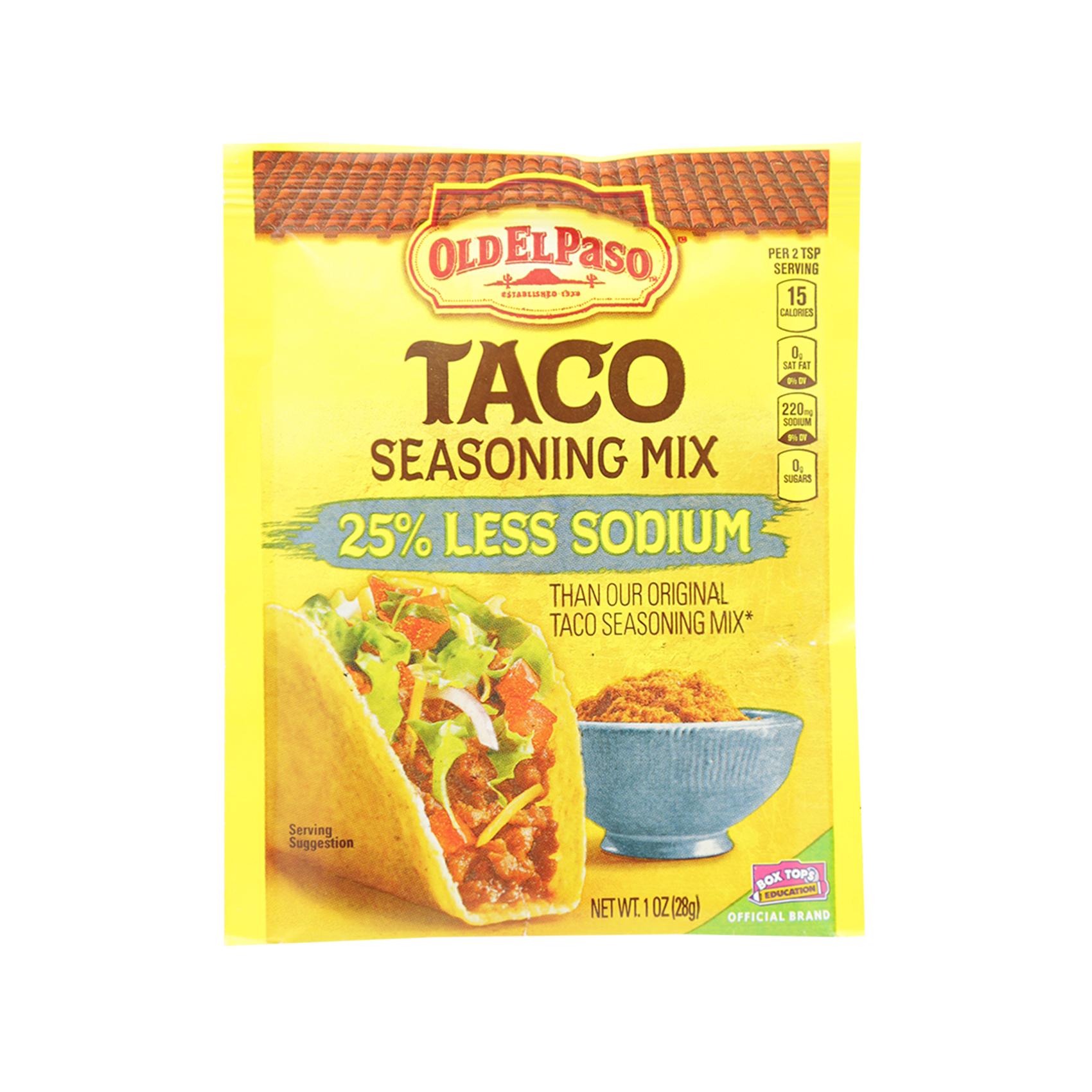 Buy Old El Paso Taco Seasoning Mix 25 Less Sodium 28g Online In Uae