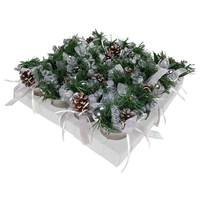 Christmas PDQ Of Flower Pots-Silver