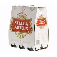 Stella Artois Beer Bottles 33CL X6