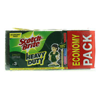 Scotch Brite Heavy Duty Scrub Sponges 3 Pieces